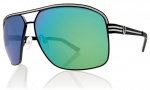 Electric Vegus Sunglasses Sunglasses - Matte Black / Grey Green Chrome Lens