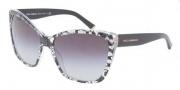 Dolce & Gabbana DG4111M Sunglasses Sunglasses - 18958G Black Lace Gray Gradient