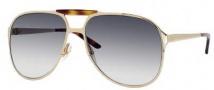 Gucci 2206/S Sunglasses Sunglasses - 0J5G Gold (44 Dark Gray Gradient Lens)