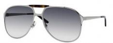 Gucci 2206/S Sunglasses Sunglasses - 06LB Ruthenium (44 Dark Gray Gradient Lens)