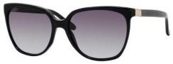 Gucci 3502/S Sunglasses Sunglasses - 0807 Black (N6 Gray Gradient Lens)