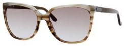 Gucci 3502/S Sunglasses Sunglasses - 0R4E Brown Azure Havana (NE Khaki Aqua Lens)
