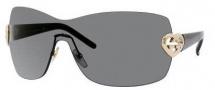 Gucci 4200/S Sunglasses Sunglasses - 0BKS Shiny Black (P9 Gray Lens)