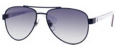 Gucci 5501/C/S Sunglasses Sunglasses - 0WQK Blue Red White (JJ Gray Gradient Lens)