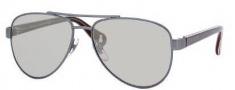 Gucci 5501/C/S Sunglasses Sunglasses - 0WQU Mist Gray White (SS Silver Mirror Lens)