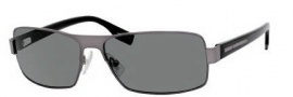 Hugo Boss 0316/S Sunglasses Sunglasses - 0BZS Semi Matte Dark Ruthenium Black (RC Green Polarized Lens)