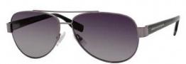Hugo Boss 0317/S Sunglasses Sunglasses - 0V81 Dark Ruthenium Black (WJ Gray SH Polarized Lens)