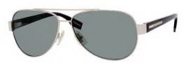 Hugo Boss 0317/S Sunglasses Sunglasses - 086Q Light Gold Dark Havana (RC Green Polarized Lens)