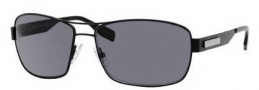 Hugo Boss 0355/S Sunglasses Sunglasses - 0PDE Semi Matte Black (TD Smoke Polarized Lens)