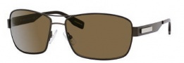 Hugo Boss 0355/S Sunglasses Sunglasses - 0VNQ Semi Matte Brown (SP Bronze Polarized Lens)