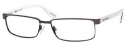 Hugo Boss 0365/U Eyeglasses Eyeglasses - 0CGC Matte Dark Ruthenium White Black