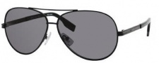 Hugo Boss 0397/P/S Sunglasses Sunglasses - 0ECK Black (RA Gray Polarized Lens)