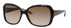 Juicy Couture Juicy 503/S Sunglasses Sunglasses - 0086 Dark Havana (Y6 Brown Gradient Lens)