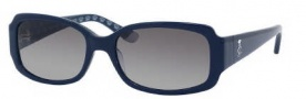 Juicy Couture Juicy 507/S Sunglasses Sunglasses - 0JEA Navy (Y7 Gray Gradient Lens)