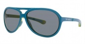 Columbia Gordo Sunglasses Sunglasses - 02 Shiny Oxide Blue / Green Glow
