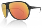 Electric Hoodlum Sunglasses Sunglasses - Matte Black / Grey Fire Chrome Lens