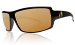 Electric EC DC XL Sunglasses Sunglasses - Gloss Black / Bronze Gold Visual Evolution Polarized Level II