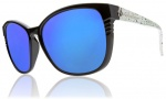 Electric Rosette Sunglasses Sunglasses - Blue Green Splatter / Grey Blue Chrome Lens