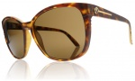 Electric Rosette Sunglasses Sunglasses - Matte Tortoise Shell / Bronze Chrome Lens