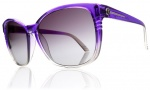 Electric Rosette Sunglasses Sunglasses - Purple Smoke Fade / Grey Gradient Lens