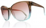 Electric Rosette Sunglasses Sunglasses - Brown Mint Fade / Brown Gradient Lens