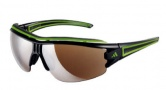 Adidas A167 Evil Eye Halfrim Pro L Sunglasses Sunglasses - 6050 Shiny Black / Green