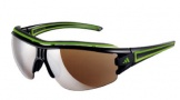 Adidas A168 Evil Eye Halfrim Pro S Sunglasses Sunglasses - 6050 Shiny Black / Green