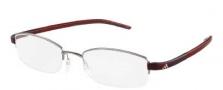 Adidas A671 Eyeglasses Eyeglasses - 6056 Ruthenium / Red