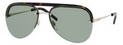 Yves Saint Laurent 2319/S Sunglasses Sunglasses - 086Q Light Gold Dark Havana / DJ Green Lens