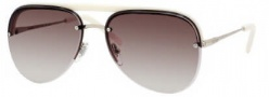 Yves Saint Laurent 2319/S Sunglasses Sunglasses - 08I1 Light Gold Ivory / CC Brown Gradient