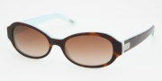 Ralph by Ralph Lauren RA5119 Sunglasses Sunglasses - 601/13 Light Tortoise / Turquoise Brown Gradient