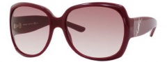 Yves Saint Laurent 6286/S Sunglasses Sunglasses - 0LHF Opal Burgundy / S2 Brown Gradient Lens