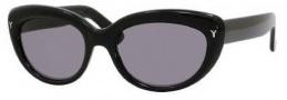 Yves Saint Laurent 6319/S Sunglasses Sunglasses - 0807 Black / BN Dark Gray Lens