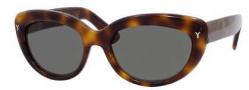 Yves Saint Laurent 6319/S Sunglasses Sunglasses - 005L Havana / 85 Gray Green Len