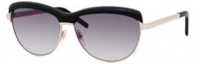 Yves Saint Laurent 6339/S Sunglasses Sunglasses - 08I2 Light Gold Black / JJ Gray Gradient Lens
