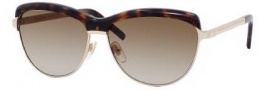 Yves Saint Laurent 6339/S Sunglasses Sunglasses - 086Q Light Gold Dark Havana / CC Brown Gradient Lens