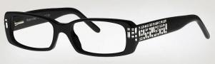Caviar 3000 Eyeglasses Eyeglasses - 24 Black With Clear Crystal Stones