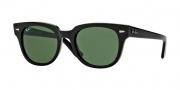Ray-Ban RB4168 Sunglasses Sunglasses - 601 Shiny Black / Crystal Green