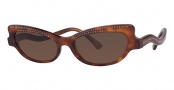 Caviar 3002 Sunglasses Sunglasses - 16 Tortoise W/ Clear Crystal Stones