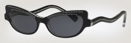 Caviar 3002 Sunglasses Sunglasses - 24 Black W/ Clear Crystal Stones