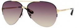 Marc Jacobs 308/S Sunglasses Sunglasses - 0l4Y Black Yellow Gold (ED Brown Gradient Lens)
