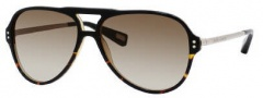 Marc Jacobs 358/S Sunglasses Sunglasses - 0UYK Black Havana Palladium (CC Brown Gradient Lens)