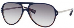 Marc Jacobs 358/S Sunglasses Sunglasses - 0UYL Blue Havana Palladium (BD Dark Gray Gradient Lens)