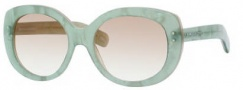 Marc Jacobs 367/S Sunglasses Sunglasses - 0klS Aqua Pearl (S6 Brown Gradient Lens)