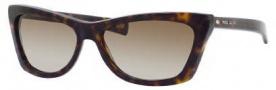 Marc Jacobs 389/S Sunglasses Sunglasses - 0086 Dark Havana (CC Brown Gradient Lens)