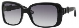 Marc Jacobs 396/S Sunglasses Sunglasses - 0807 Black (JJ Gray Gradient Lens)