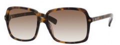 Jimmy Choo Eddie/S Sunglasses Sunglasses - 0YBY Havana Brown (02 Brown Gradient Lens)