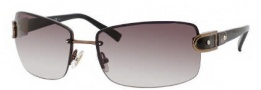 Jimmy Choo Elisa/S Sunglasses Sunglasses - 0YHB Brown Gold Black (YY Brown Gradient Lens)