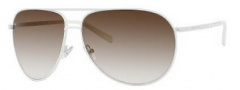 Jimmy Choo Loh/S Strass Sunglasses Sunglasses - 0HlD Shiny White (JS Gray Gradient Lens)