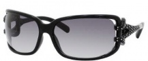 Jimmy Choo Mini JJ/Strass Sunglasses Sunglasses - 0D28 Shiny Black (JJ Gray Gradient Lens)